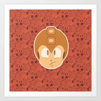 megaman Art Prints featuring Megaman by Kuki