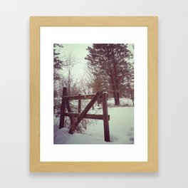 Canadian Winter in the Mountains Framed Art Print