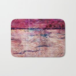 Pink landscape Bath Mat