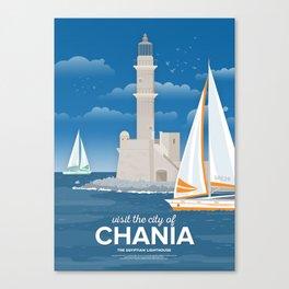 Chania, The Egyptian Lighthouse (GR) Canvas Print