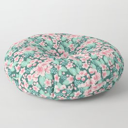 Cherry Blossom spring summer boho floral flower gardening nature botanical nature flowers florals Floor Pillow