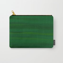 Emerald Green Stripes Abstract Carry-All Pouch