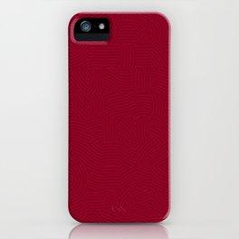 BloodRed Spirals iPhone Case