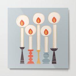 Festive Candles Metal Print