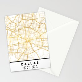 DALLAS TEXAS CITY STREET MAP ART Stationery Cards