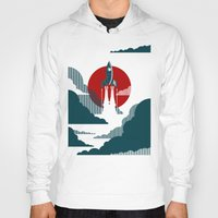 mid century Hoodies featuring The Voyage by Danny Haas