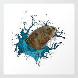 Dru Giant River Otter Art Print