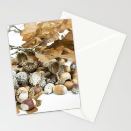 Autumn Acorns 5 Stationery Cards