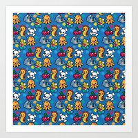 Sea pattern 01 Art Print