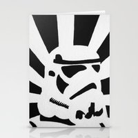 stormtrooper Stationery Cards featuring StormTrooper by Shelly Lukas Art