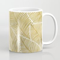 tropical Mugs featuring Tropical Gold by Cat Coquillette