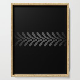 Black Tyre Marks Serving Tray