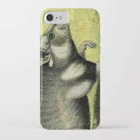 hamster iPhone & iPod Cases featuring Little Hamster by Connie Goldman
