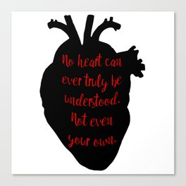 Understand the Heart Canvas Print