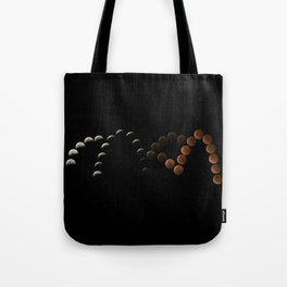 Total Lunar Eclipse Blood Moon Composite Tote Bag