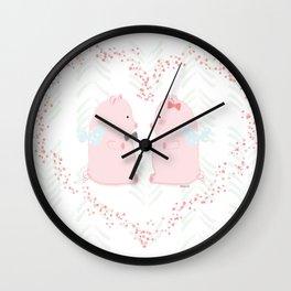 I believe love flies - Flying Pigs Couple Wall Clock