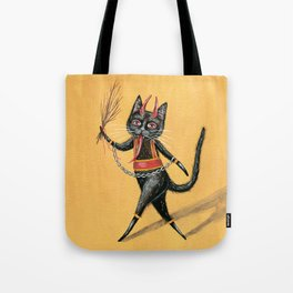 Krampus cat Tote Bag