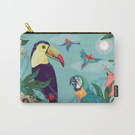 Toucan and Parrot Carry-All Pouch
