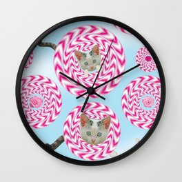 Krazy Kitty Spins Wall Clock