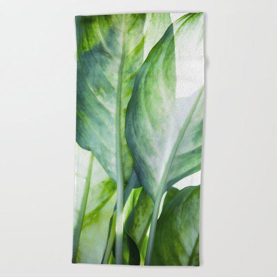tropic abstract  Beach Towel