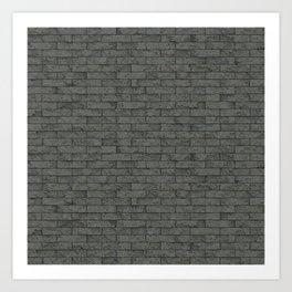 Grey Stone Bricks Wall Texture Art Print