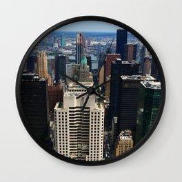 NewYork New York - A View Over Manhattan Wall Clock