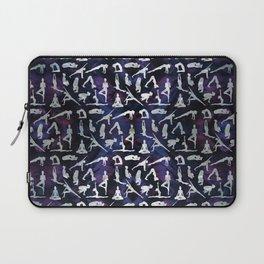 Yoga Asanas / Poses  pattern on Amethyst Laptop Sleeve