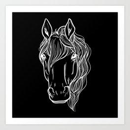 Horse Lover Horseback Riding Art Print