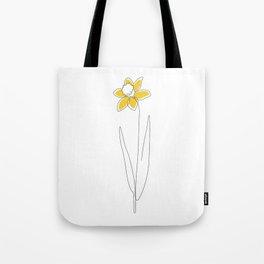 Mustard Daffodil Tote Bag