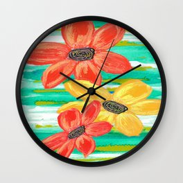 Ode to a Summer's Day Wall Clock