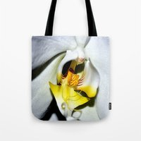 orchid Tote Bags featuring orchid by  Agostino Lo Coco