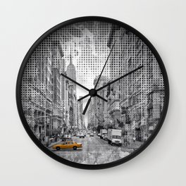 Graphic Art NEW YORK CITY 5th Avenue Wall Clock