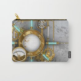 Steampunk Round Banner with Pressure Gauge Carry-All Pouch