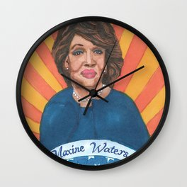 Women Who March: Maxine Waters Wall Clock