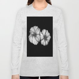 Black Floral Ink II Long Sleeve T-shirt
