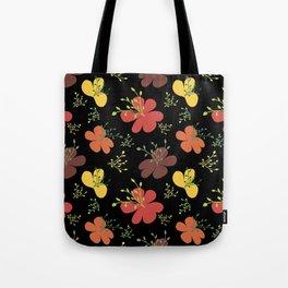 flor fondo negro1 Tote Bag