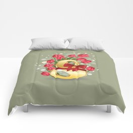 Goln eight with tulips Comforters