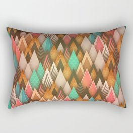 Abstract colorful triangle pattern Rectangular Pillow