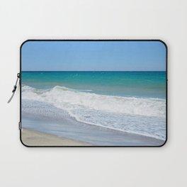 Sandy beach and Mediterranean sea Laptop Sleeve