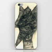 faces iPhone & iPod Skins featuring Faces by Attila Hegedus