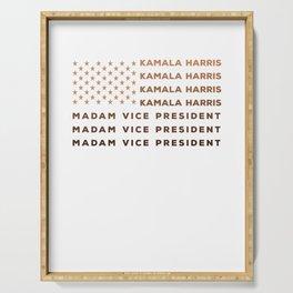 Madam Vice President Kamala Harris Melanin USA Flag Serving Tray