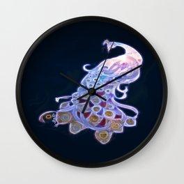 Unique White Peacock Wall Clock