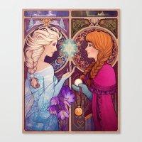 jon snow Canvas Prints featuring Let Me In by Megan Lara