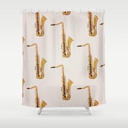 Saxophones Shower Curtain