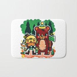 Lumberjack and Friend Bath Mat