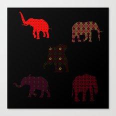 Five Elephants version2 Canvas Print