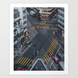 Crossroads (Hong Kong) Art Print