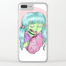 Pastel zombie Clear iPhone Case