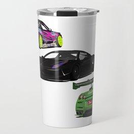 Vectored Cars Travel Mug
