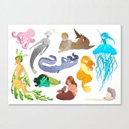 Unconventional Mermaids Canvas Print